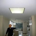 天井のアスベスト除去作業